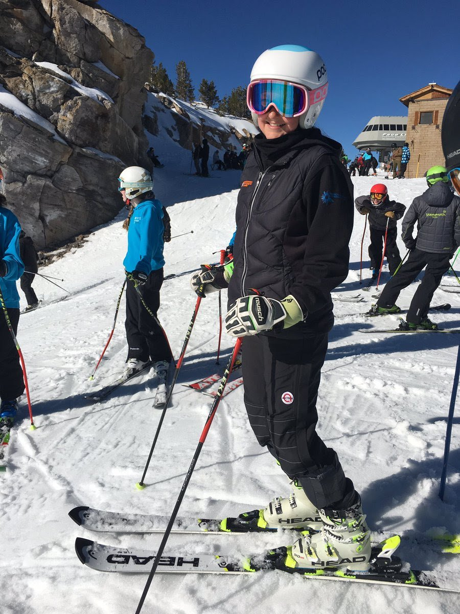 Arctica is a good fit for this young ski racer from Mammoth Lakes, CA.