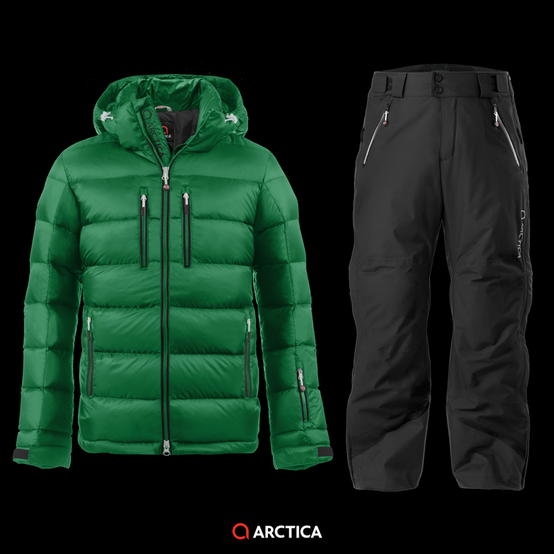 Arctica Classic Down Jacket Green 2.0 Pants Black