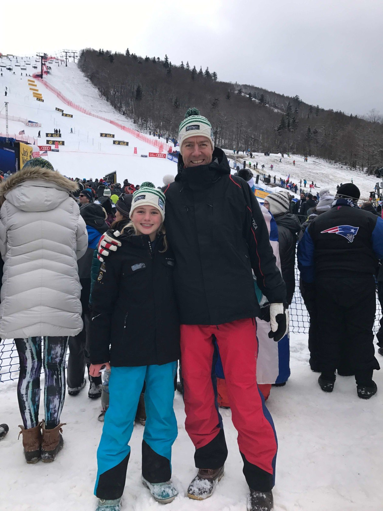 Father and daughter in Arctica apparel.