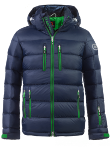 Arctica Classic Down Packet Jacket Midnight/Lime Front